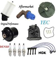 Tune Up Kit Air /& Gas Filters Cap Rotor NGK Wires /& Plugs for Acura Integra 1994-2001