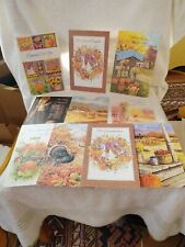 Lot of 10 Vintage New Unused THANKSGIVING Cards