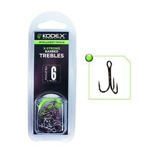 KODEX X-STRONG PIKE TREBLE HOOKS - PIKE, ZANDER AND PREDATOR FISHING