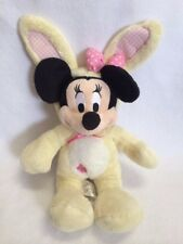 Disney Store Minnie Mouse Yellow Bunny Rabbit Costume Plush Pink Polka Dot Bow