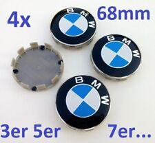 4x 68mm BMW Emblem, weiß blau, Nabendeckel Felgendeckel Nabenkappen Radkappe NEU