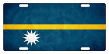 NAURU Flag Custom License Plate NATIONAL Emblem PAPER Version