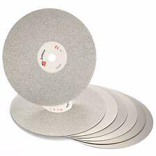 "10Pcs 6"" inch Diamond Flat Lap Disk Coated Grinding Disc Wheel Grit 80-3000 Set"