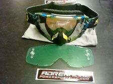SCOTT Hustle Goggles (Tangent Blue & Green with Silver Chrome and Clear Lens)