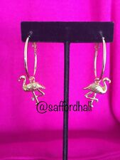 🌊🐬 Lilly Pulitzer Earrings New Hoops Flamingos Reporpoised Charms 🌊🐳