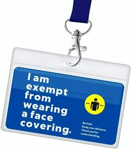 Face Mask Exemption Lanyard with Card  Holder  1pc Card 1pc Lanyard and 1pc