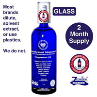 Transdermal Magnesium Oil -  GLASS - 2 Month Supply. Never chemically treated