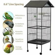 Large Cage Parrot Bird Macaw House Metal Finch Cockatoo Pet African Grey Black