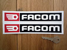 FACOM Red & Black Sponsors Style Car STICKERS 200mm Racing Race Bike Classic