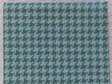 NEW & HTF Quilter's Showcase Modern BLUE & GRAY HOUNDSTOOTH *100% Cotton FQ