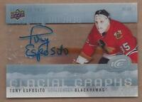 2014-15 Glacial Graphs autographed hockey card Tony Esposito Chicago Blackhawks
