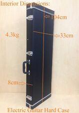 Durable Rectangle Electric Guitar Hard Case,Lockable,Black,Full Size