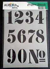 Stencil by Aurora Arts A4 Large Classic Numbers 190mic Mylar craft stencil 197