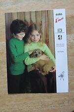 Modelli di Lavoro A Maglia Vintage-emu DK o 4-ply Maglione Bambino numero 6686