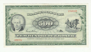 Denmark 500 kroner 1963 replacement circ. @ low start