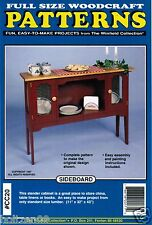 Sideboard Cabinet Woodworking Plans The Winfield Collection