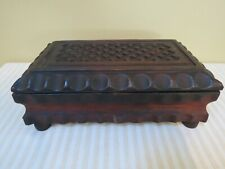 Vintage Reuge Switzerland Carved Wood Music Box, Doctor Zhivago Lara's Theme, Wo