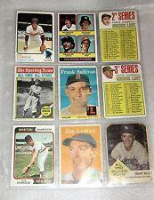 1974 Luis Aparicio,1973 Rod Carew,1958 Jim Lemon,Willie Mays,Mantle Check List