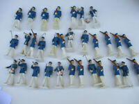 Marching Soldier Lot Vintage Original Cadet Plastic Playset Rare Unusual