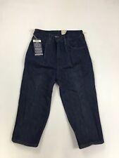 LEVI'S STA-PREST 3/4 Capri Cropped Jeans - W28 - Navy - NEW - Women's