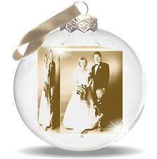 Geschenk Fotogeschenk Hochzeit Fototasse Weihnachtskugel mit Deinem Foto Druck