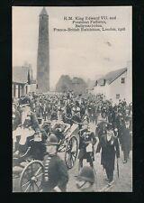 FRANCO-BRITISH Exhibition 1908 HM King Edward VII & President Fallieres PPC