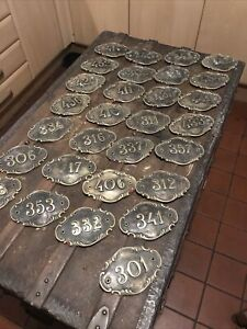 Antique Brass Door Numbers That Originated From An American Hotel Number (3)