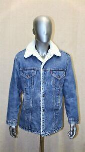 VINTAGE 70'S LEVIS long SHERPA TRUCKER lined denim jacket 40 reg Made in USA