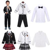 Kids Boys Girls School Uniform Anime Costume Coat Shirt Pants/Skirt Cosplay Set