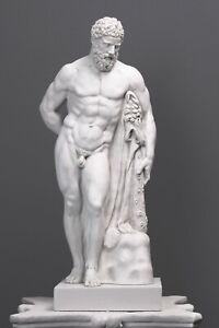 "Farnese Hercules Statue - Heracles Sculpture - Greek Hero & God - 63CM / 24.8"""