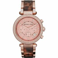 000c7e2c33f0 BRAND NEW Michael Kors Parker Chronograph Rose Gold Tone Womens Watch MK5538