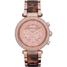 BRAND NEW Michael Kors Parker Chronograph Rose Gold Tone Womens Watch MK5538