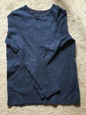 EUC Mini Boden long sleeve Shirt Navy blue white tee 13-14 boys