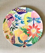 Anthropologie Tropical Melamine Dinner Plate NWT Nice!