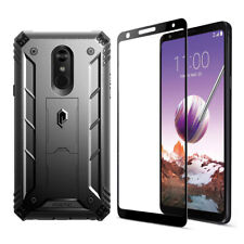 For LG Stylo 4 Case,Heavy Duty Shockproof Protective Cover+Screen Protector