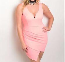 SALE - Plus Size 16 Chic BodyCon Coral Dress