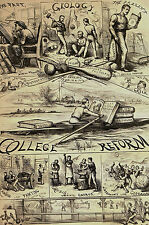 Thomas Nast 1869 COLLEGE REFORM Law Music Math Science Philosophy Print Matted