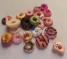 5 Pieces Assorted Doughnuts Resin Kawaii Cabochon DIY Cell Phone Decorations
