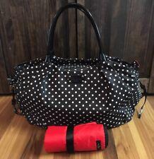 Kate Spade New York Stevie Diaper Bag Black White Polka Dot Tote Purse EUC