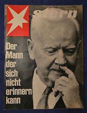 STERN 1969 Nr. 11: Friedereich Hundertwasser / Heinrich Lübke / Uschi Glas
