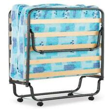 """Linon Roma Folding Rollaway Guest Bed with 4"""" Foam Mattress, Cot"""