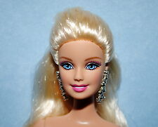 GLAM! PLATINUM Blonde w/ Pony Tail NUDE Belly Button BARBIE for OOAK or Repaint