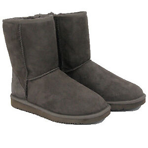 Kirkland Signature Womens Shearling Zipper Boots New Without Box (4, Chocolate)