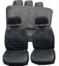 Mazda MX-3 MX-5 MX-6 UNIVERSAL BLACK PVC Leather Look Car Seat Covers Split Rear