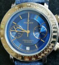 POLJOT Chronograph Armbanduhr Fliegeruhr blau 23 Jewels No.142810 Made in Russia