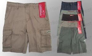 Men's UnionBay Cargo Shorts Pants Casual Cotton Black Grey W32 34 36 38 40 BNWT