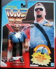 Figura WWF Hasbro The Big Bossman (with glasses) Series 1 Tarjeta Azul Neon MOC
