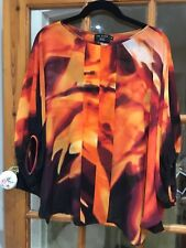 Ted Baker 100% Silk Multi Colour Blouse, Size 2