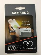 New Samsung 32GB 95MB/s (U1) MicroSDHC EVO Memory Card with Adapter
