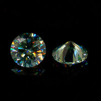 Details about  /3.0~12mm Light Yellow IJ Color Round Loose Moissanite Stone With Certificate